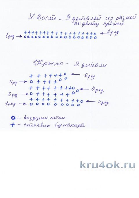 Петушок - новогодний символ. Работа Надежды Борисовой вязание и схемы вязания