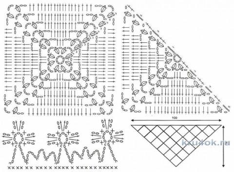 Вязаный бактус. Работа Виктории вязание и схемы вязания