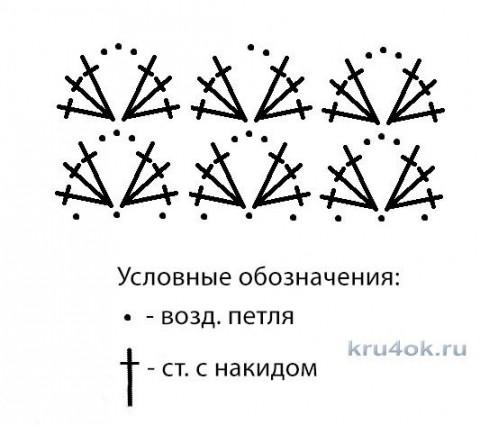 Юбка для девочки крючком.Работа Эльвиры Климовой вязание и схемы вязания
