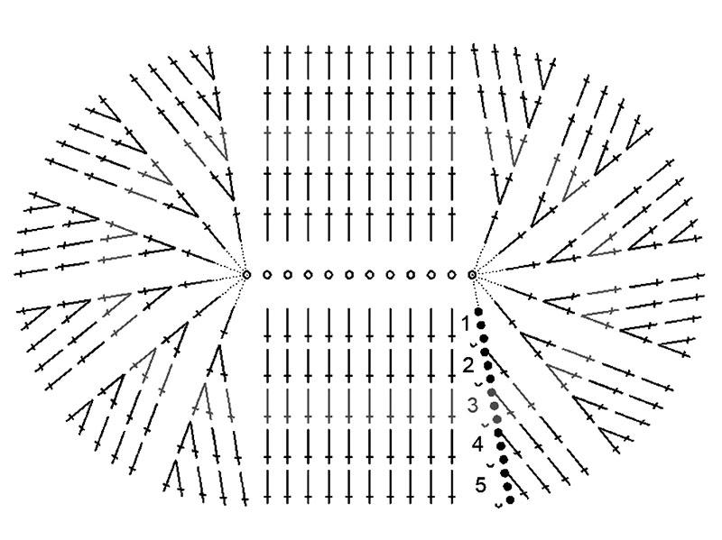 как связать пинетки крючком с описанием и схемами бесплатно