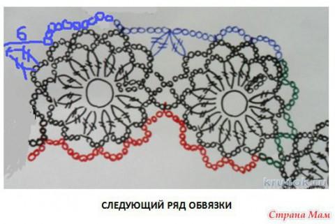 Ажурная кофточка Сальса. Работа Тамары Матус вязание и схемы вязания