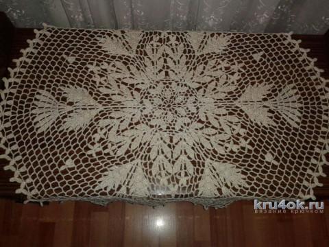 Ажурная салфетка крючком. Работа Фланденой Татьяны вязание и схемы вязания