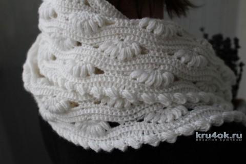 Комплект Белое облако - шапка, снуд и митенки вязание и схемы вязания