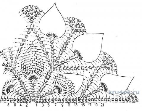 Персиковая накидка крючком. Работа Галины Андреевны вязание и схемы вязания