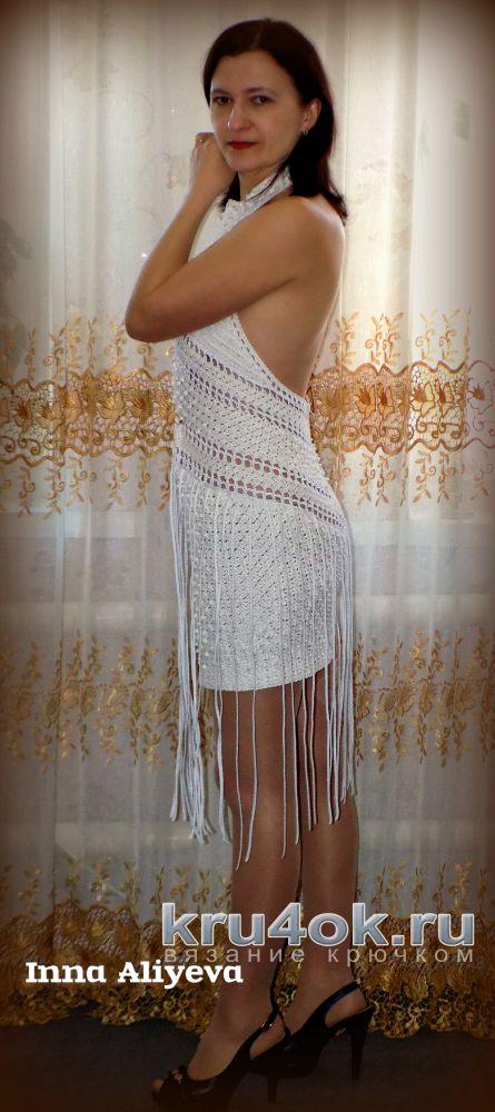 Платье - сарафан крючком. Работа Inna Aliyeva. вязание и схемы вязания