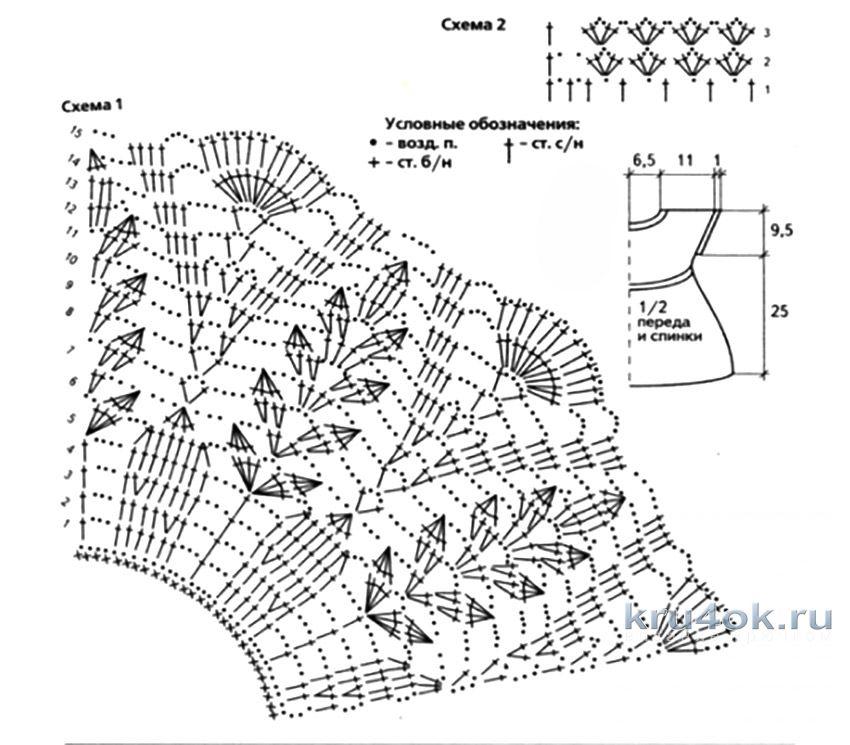 Схемы для вязания крючком для детей платья 39