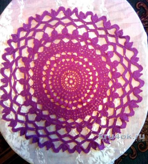 Салфетка крючком. Работа Зинаиды вязание и схемы вязания