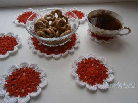 Салфетки для чаепития. Работы Натальи Аброськиной вязание и схемы вязания