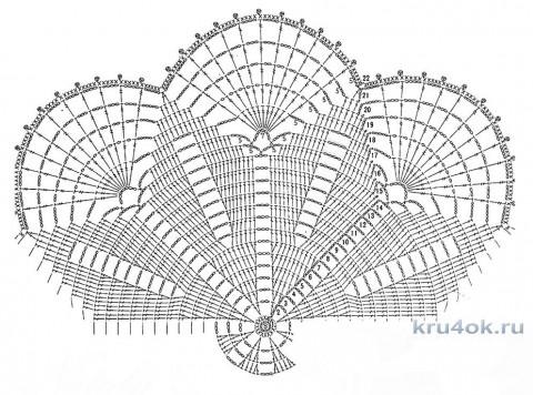 Салфетки крючком. Работы Виктории вязание и схемы вязания