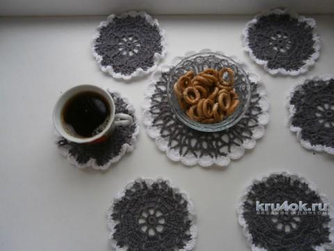 Сервировочные салфетки. Работы Натальи Аброськиной вязание и схемы вязания