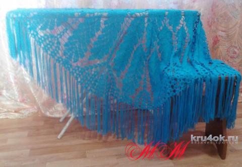 Шаль Дубовые листья. Работа Марины Михайловны вязание и схемы вязания