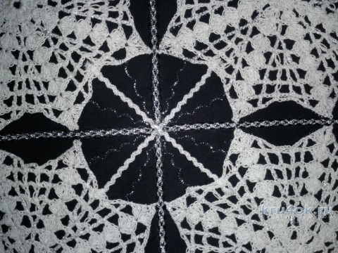 Сумка хозяйственная из ткани с вязаной отделкой вязание и схемы вязания