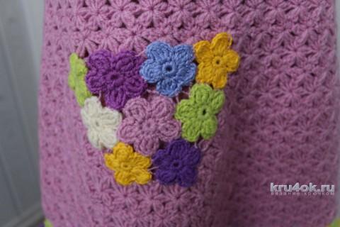 Туничка Цветочная. Работа Ксюши Тихоненко вязание и схемы вязания