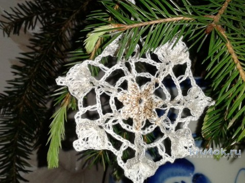 Вязаные крючком снежинки от Фланденой Татьяны