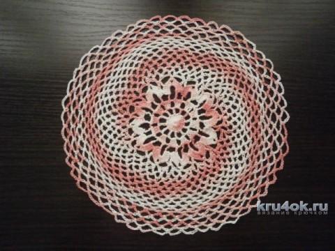 Вязаные салфетки. Работы Натальи Аброськиной вязание и схемы вязания