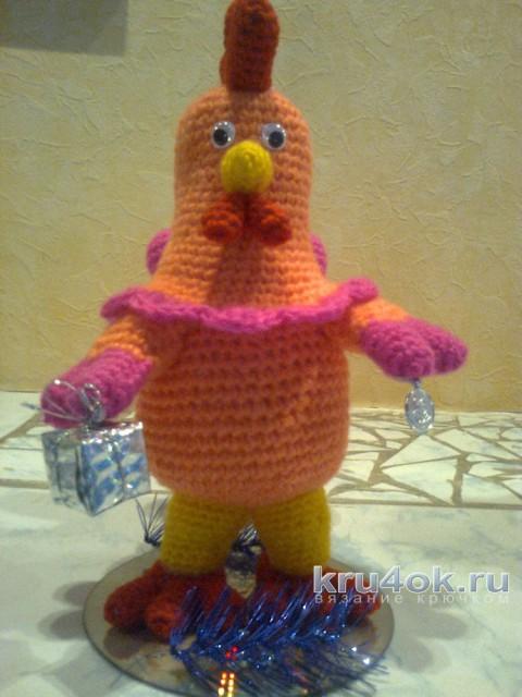 Вязаный петушок. Работа Тамары вязание и схемы вязания