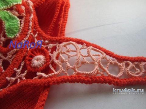 Яркий вязаный крючком купальник вязание и схемы вязания
