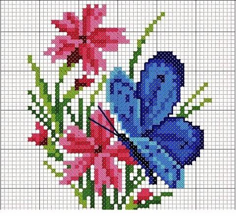 Схемы жаккард бабочки