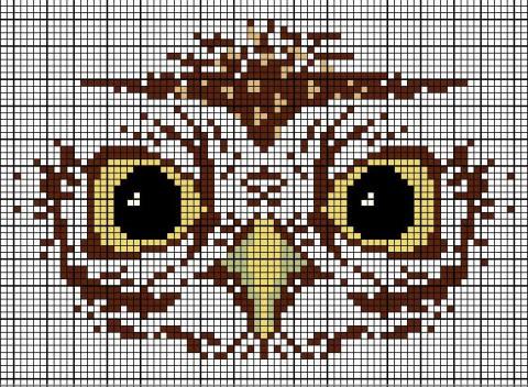 Схемы жаккард совы