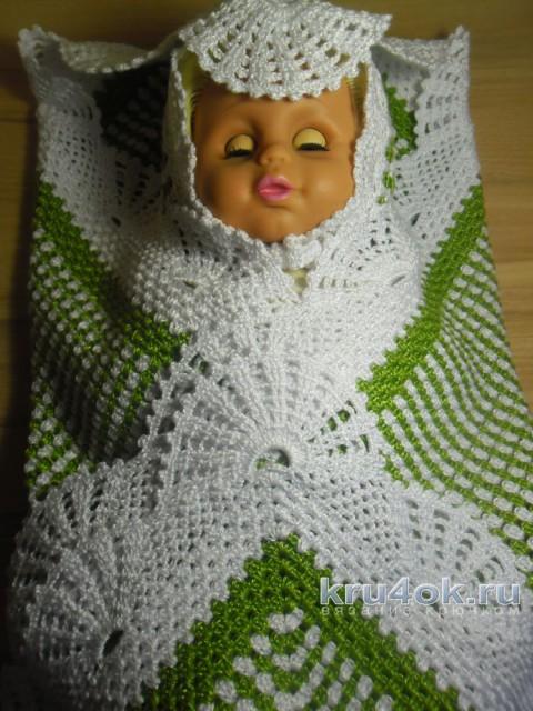 Детский плед крючком. Работа Инны Пальчун вязание и схемы вязания