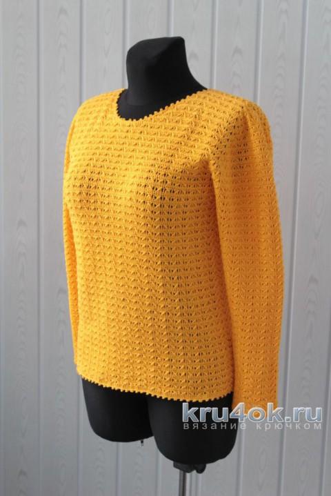 Джемпер Канарейка, связанный крючком вязание и схемы вязания