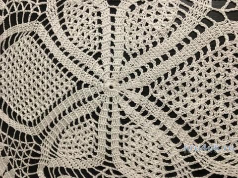 Овальная салфетка крючком. Работа Надежды Борисовой вязание и схемы вязания