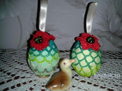 Пасхальное яйцо с цветком маки. Мастер - класс от Фланденой Татьяны вязание и схемы вязания