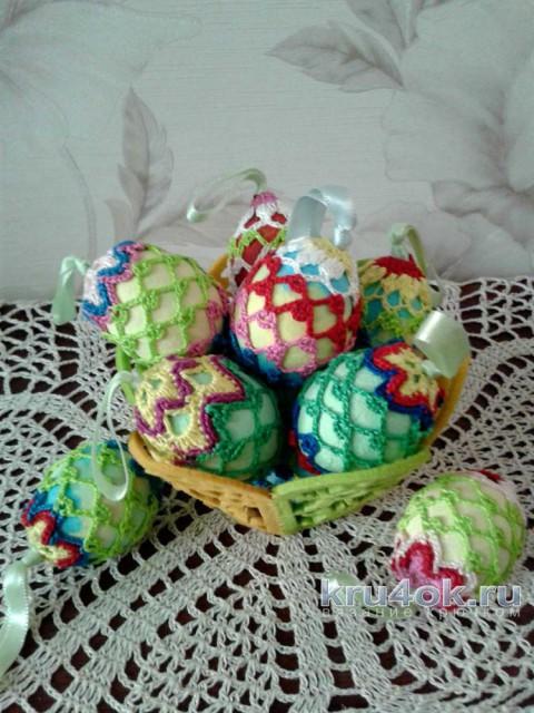 Пасхальное яйцо. Украшение к пасхе. Мастер - класс! вязание и схемы вязания
