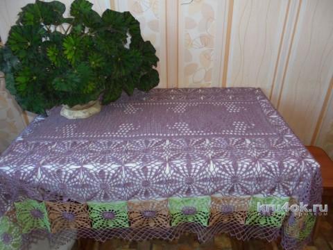 Скатерть крючком. Работа Татьяны Ивановны вязание и схемы вязания