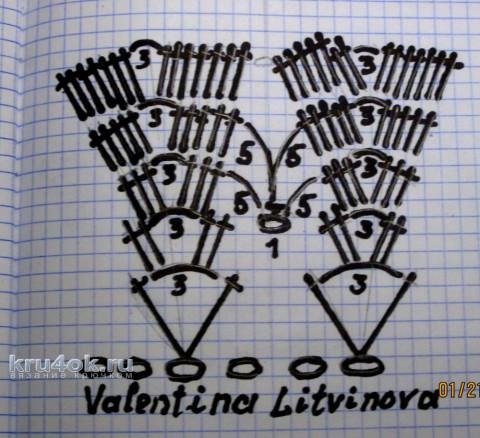 Топик крючком. Работа Валентины Литвиновой вязание и схемы вязания