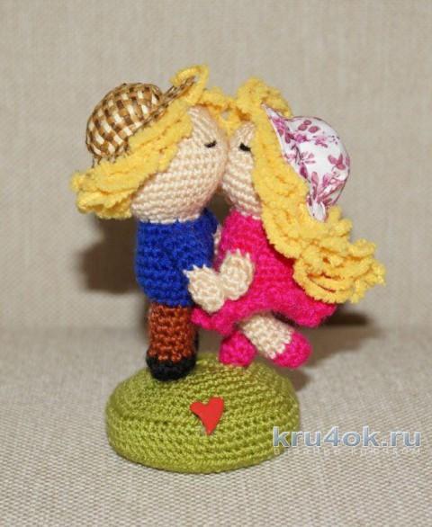 Влюбленная парочка. МК от Юлии Конончук вязание и схемы вязания