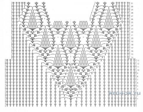 Вязаные крючком кардиганы. Работы Галины Коржуновой вязание и схемы вязания