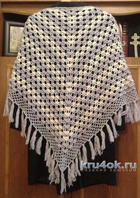 Вязаные крючком шали. Работы Галины Коржуновой вязание и схемы вязания