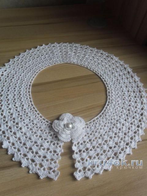 Вязаные крючком воротнички. Работы Инны Пальчун вязание и схемы вязания