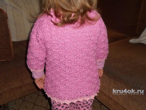 Жакет ажурный для девочки. Работа Эльвиры Ткач вязание и схемы вязания