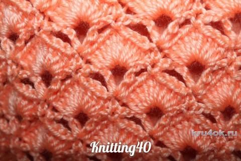 Ажурная схема вязания пуловера