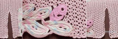 Блузон Розовые листья. Работа Татьяны Родионовой вязание и схемы вязания