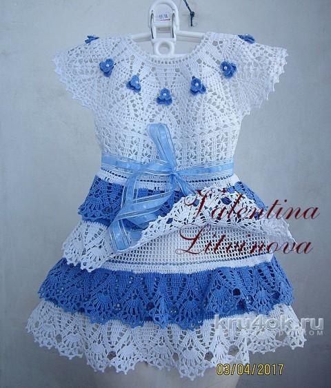 Комплект для девочки крючком. Работа Валентины Литвиновой вязание и схемы вязания