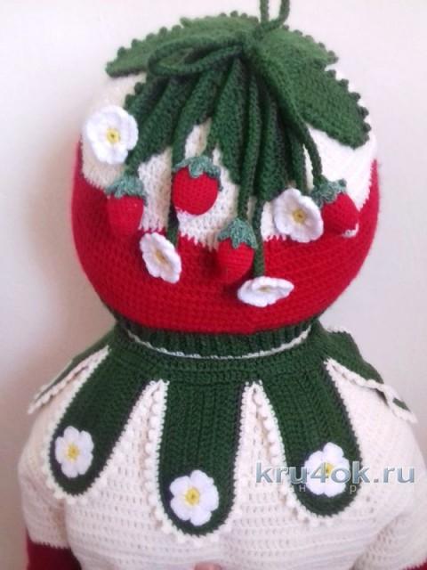 Комплект Земляника. Кофточка, шапочка и пинетки для девочки вязание и схемы вязания
