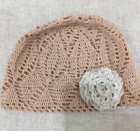 Летняя панама для девочки. Работа Temirgaliieva.evg вязание и схемы вязания
