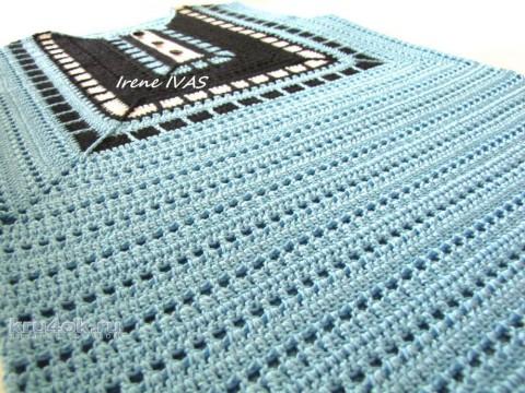 Майка Геометрия крючком. Работа Irene IVAS вязание и схемы вязания