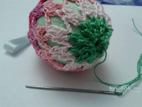 Пасхальное яйцо с бантиками. Работа Фланденой Татьяны вязание и схемы вязания