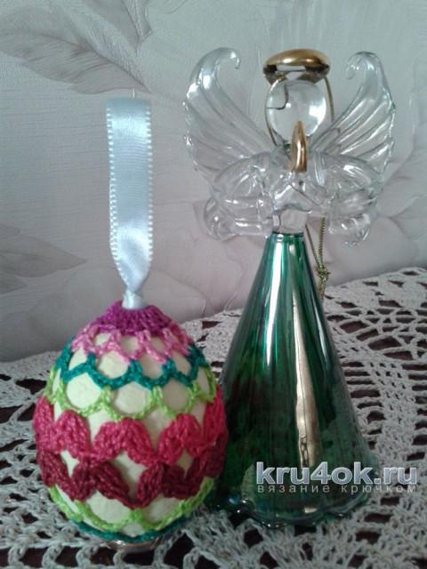 Пасхальное яйцо зиг-заг. Мастер - класс от Фланденой Татьяны вязание и схемы вязания