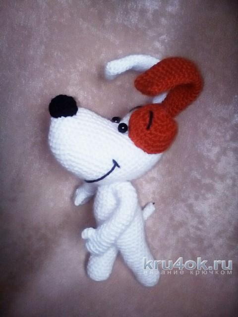 Песик Рекс, связанный крючком. Работа Маргариты вязание и схемы вязания