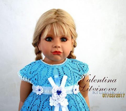 Платье для девочки. Работа Валентины Литвиновой вязание и схемы вязания