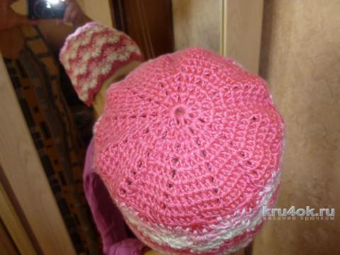 Шапочка для девочки крючком. Работа Nataly вязание и схемы вязания