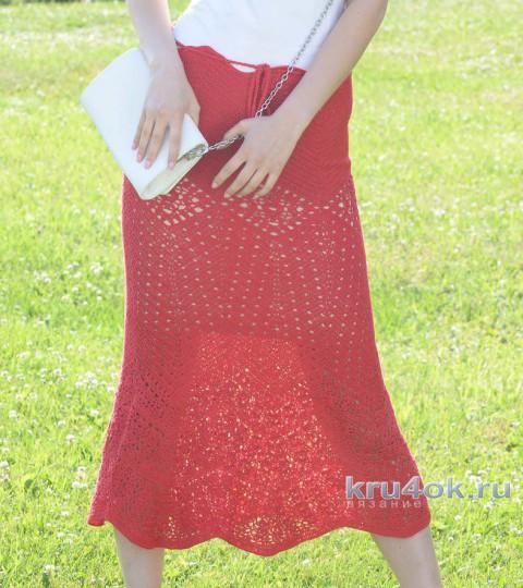Топ, юбка, маечка, шляпа и митенки Красный квадрат вязание и схемы вязания