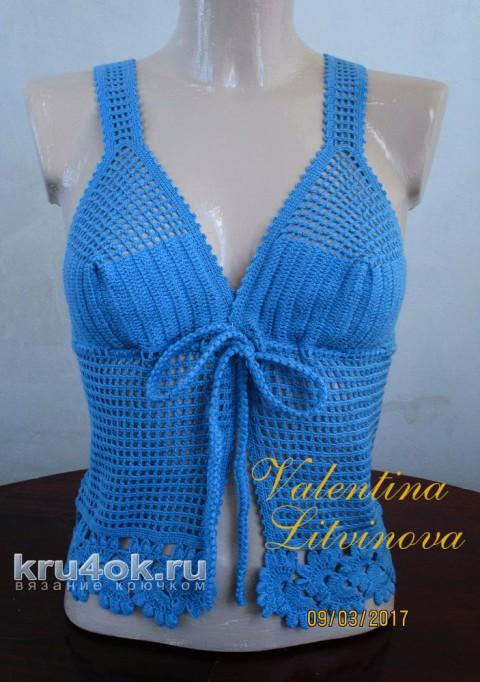 Топик летний. Работа Валентины Литвиновой вязание и схемы вязания