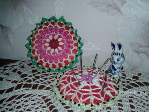 Вязаная игольница. Мастер - класс! вязание и схемы вязания