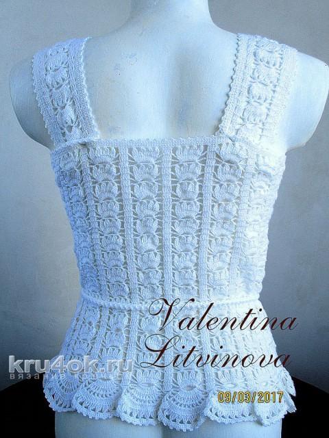 Вязаная туника. Работа Валентины Литвиновой вязание и схемы вязания